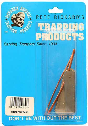 Pete Rickard Rickard's Zinc Trap Tags 2'' 25/pk. 32843