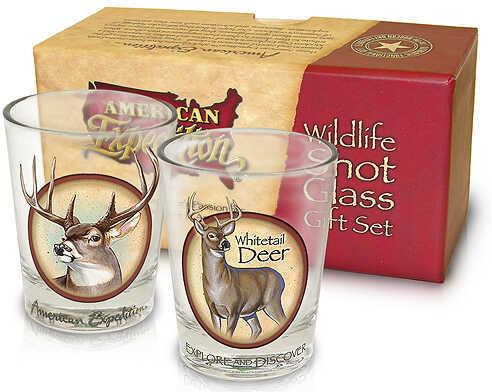 Ideaman Inc. / AM Expedition AM Expedition Shot Glass Set Gift Set - Whitetail Deer 2/Set 33126