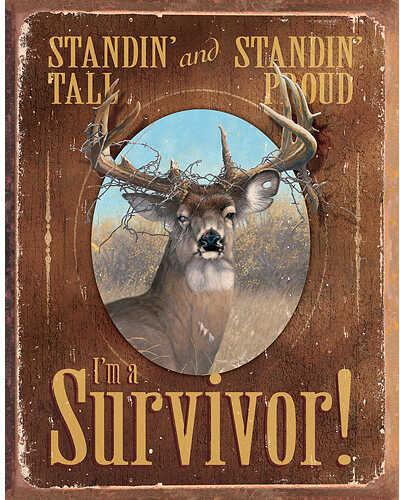 WILD WINGS Tin Signs - I'm a Survivor 12.5''x16'' 5227755165