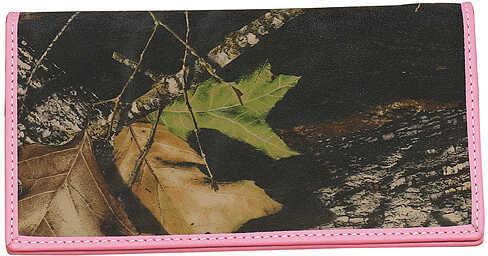 WEBER'S CAMO LEATHER GOODS Weber Women's Deluxe Checkbook Wallet BrkUp 207401