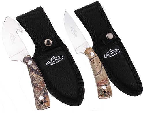 Kutmaster Team Realtree Field Dress/Caping Combo Knives 2 Knife Set AP 36011