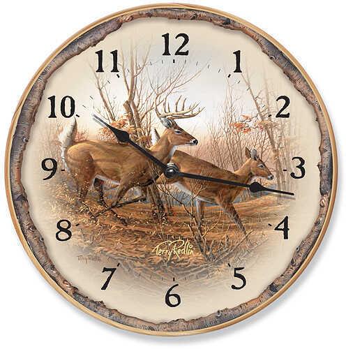 WILD WINGS Wall Clock - Autumn Run Whitetail Deer 4209092502