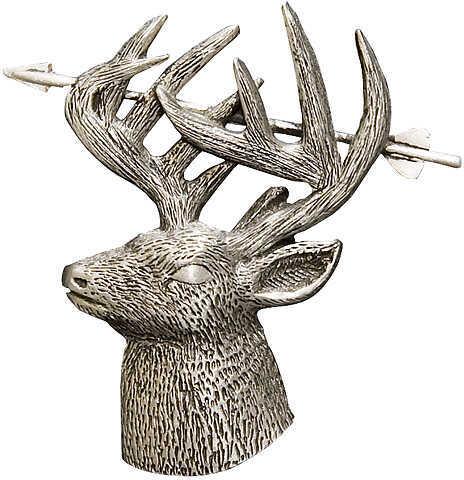 EMPIRE PEWTER MFG CO Empire Deer w/Arrow Through Horns Pin Pwtr 36440