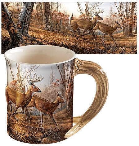 WILD WINGS Sculpted Mugs - Autumn Run Antler Handle 16oz. 8209711501