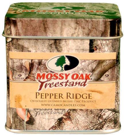 CAMO CANDLES Mossy Oak Treestand Candle - Pepper Ridge Slip Top Tin 3''x3''x3'' 45166