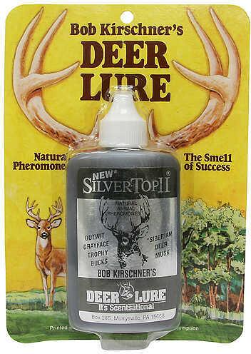 B. Kirschner Deer Lure B KIRSCHNER DEER LURE Kirschner's Silver Top II 1.25oz 4588