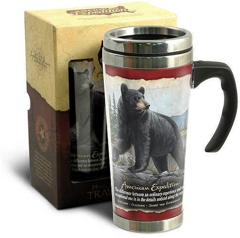 Ideaman Inc. / AM Expedition AM Expedition Stainless Travel Mug 24oz. Black Bear 24oz. 46625