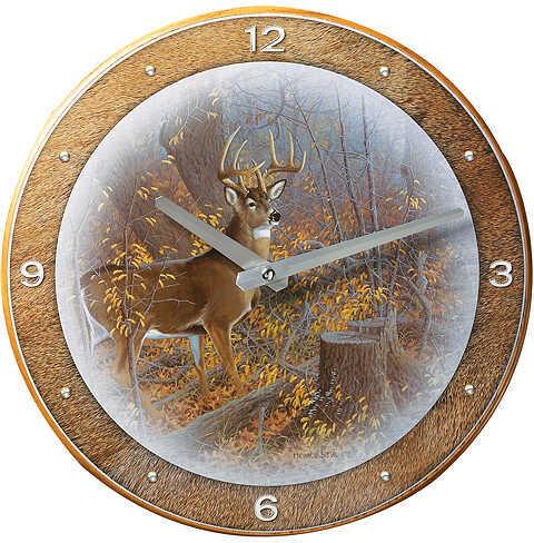 WILD WINGS Ladies First Clock Whitetail Deer 11'' dia. 5209092564