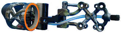 Extreme Archery Extreme Raptor 911 Sight w/Rheostat Light RH Lost 4 Pin .019'' 47483