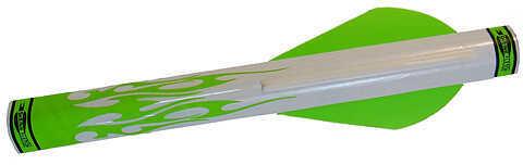 "Extreme Archery Shrink Fletch w/2"" Broadhead Vane 2 Grn/1Wht 6/pk. 48703"