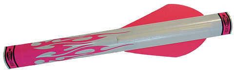 "Extreme Archery Shrink Fletch w/2"" Broadhead Vane 2 Pnk/1Wht 6/pk. 48705"