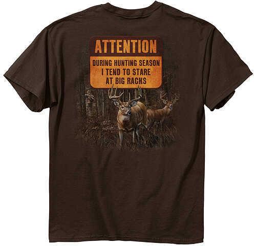 Buck Wear Inc. BUCK WEAR INC Buck Wear Star Racks T-Shirt Lg S/S Chocolate 48999