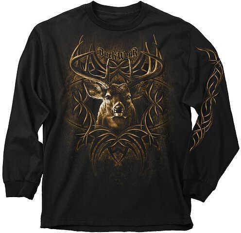 Buck Wear Inc. BUCK WEAR INC Buck Wear BW Tribal Rack L/S T-Shirt Md L/S Black 49030