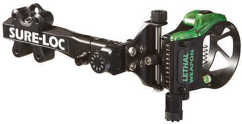 """Field Logic Inc. FIELD LOGIC INC Sure Lock Lethal Weapon Sight w/ Retina Lock 5 Pin -.019"""" LH Black 55800"""