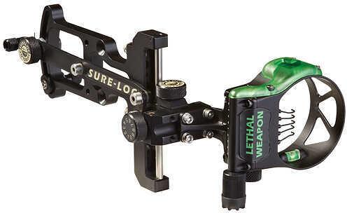 "Field Logic Inc. FIELD LOGIC INC Sure Loc Lethal Weapon Max Sight 5 Pin - .019"" LH Black 55804"