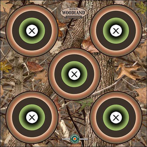 "Arrowmat Woodland Camo 5 Spot Target 17""x17"" 57865"