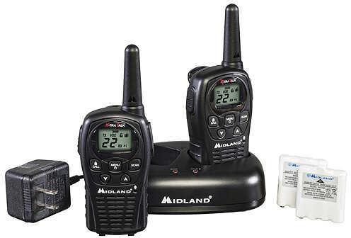 Midland Radios Midland LXT500VP3 2 Way Radio w/Batteries & Charger 22 Chl, 24mile Black 2/pk. 58192