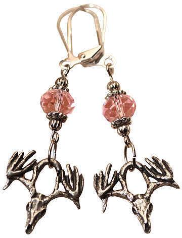 LITTLE D DESIGN LLC Little D Drop Tine Skull Earrings w/Pink/Silver Accents 58712