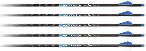 "Carbon Express / Eastman Maxima Blue Streak Crossbolt W/lighted Nocks Moon Nock 22"" Factory R2 Vanes 5 Pack"