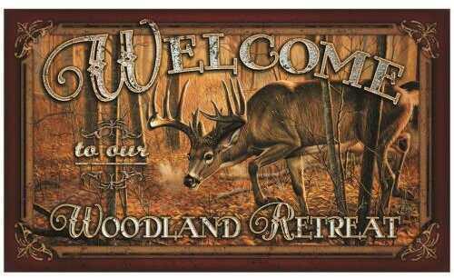 """Rivers Edge Products Door Mat, 30""""x18"""" Welcome, Deer 1860"""
