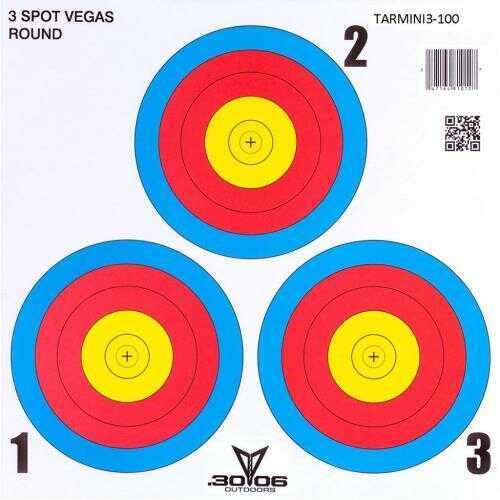30-06 Outdoors Mini Paper Target 3 Spot Vegas 100 pk. Model: TARMINI3-100