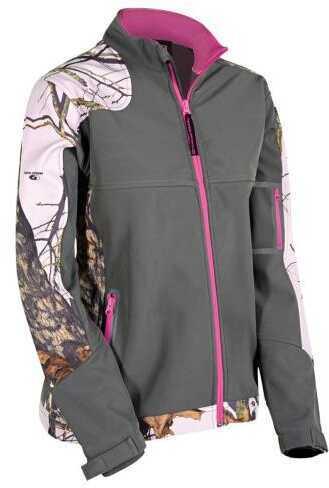 Yukon Advanced Optics Yukon Womens Soft Shell Jacket Mossy Oak Pink/Grey Large Model: WSSJW-PN-L
