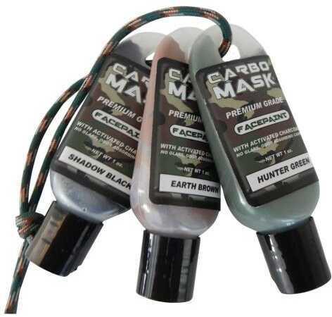 Carbomask Carbo Mask Facepaint Black/Green/Brown 1 oz. 3 pk. Model: 310134
