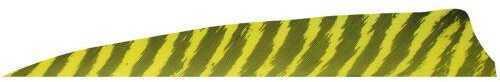 RW 100 Pk. Gateway Shield Cut Feathers Barred Yellow 4 in