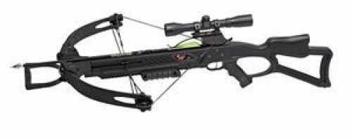 Carbon Express / Eastman X-Force 350 Crossbow Kit w/4x32 Multi-Ret Scope 165lbs Black 20271