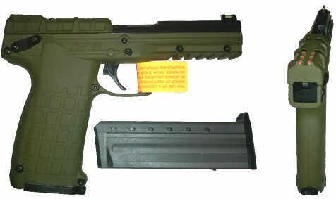 """Kel-Tec PMR-30 22 Magnum 4.3"""" Barrel 30 Round Blued/Green Grip Semi Automatic Pistol PMR-30BGRN"""