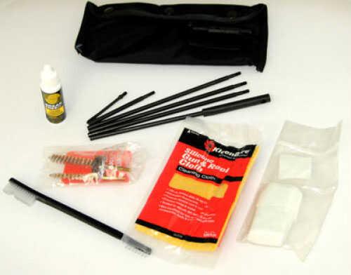 "Kleen-Bore Field Pack Cleaning Kit AR-15/M-16 223/5.56 - Black Nylon Pouch 4-Piece Steel Rod (27"") - Accessory POU302B"