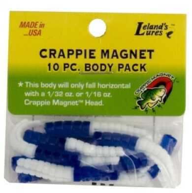 Leland's Lures Leland Crappie Magnet Body 15pk Blue/White Md#: CM15-BW