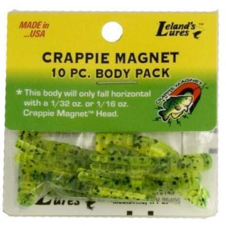 Leland's Lures Leland Crappie Magnet Body 15pk Chartreuse w/Black Flake Md#: CM15-CBF