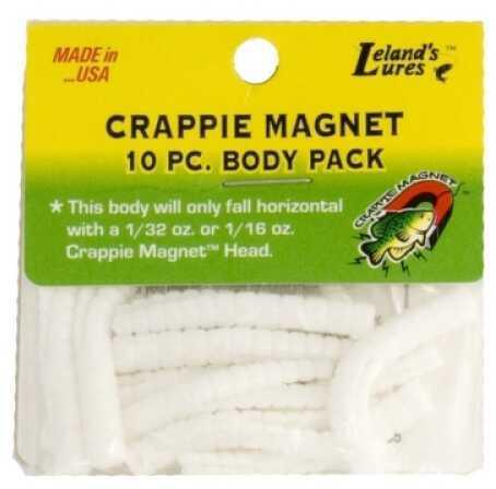 Leland's Lures Leland Crappie Magnet Body 15pk White Md#: CM15-W
