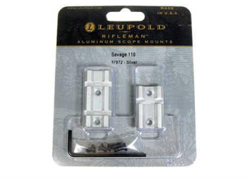 Leupold Rifleman Bases Savage 110 (2pc), Silver Finish 57872