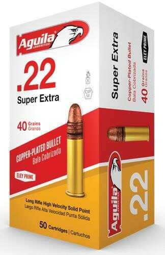 Aguila Super Extra 22 LR 40 Grain Solid Point Hi-Velocity 50 Round Box 1B222328