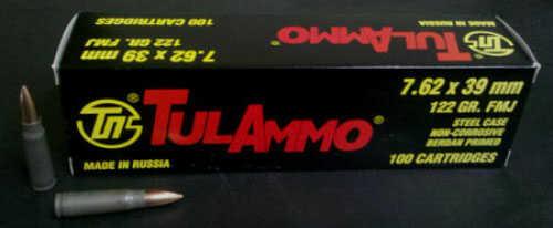 Tulammo Tgt 762X39 122Gr Full Metal Jacket Bi-Metal/Non Corrosive 100 1000 UL076210