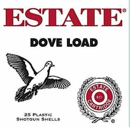 Estate Cartridge 12Ga Dove load 1 1/8 Oz #7 1/2 3 Dram Estate Made by Federal Brass Bass 250 Rounds Ammunition GTL12HN75
