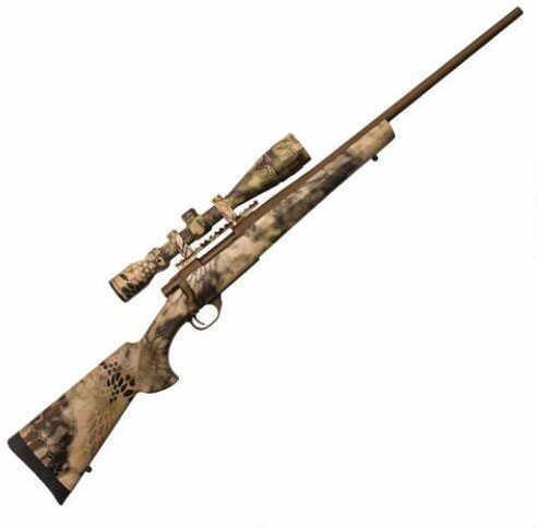 "Howa Hogue 300 Winchester Magnum 24"" Barrel 4 Round Hogue Kryptec Highlander Synthetic Stock Nikko Stirling GameKing 4-16x44mm Scope Cerakote Brown Finish Bolt Action Rifle"