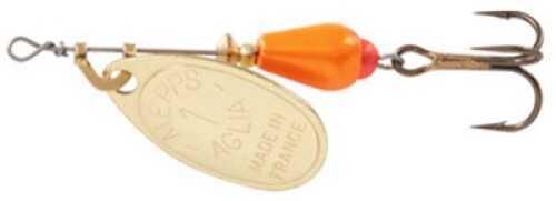 Mepps / Sheldon's Mepps Aglia Brite In-Line Spin 1/8oz Orange w/Gold Blade Md#: AB1 OR-G