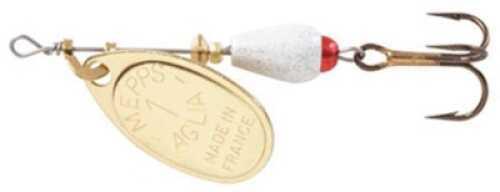 Mepps / Sheldon's Mepps Aglia Brite In-Line Spin 1/8oz White w/Gold Blade Md#: AB1 WH-G