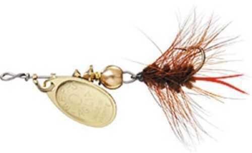 Mepps / Sheldon's Mepps Wooly Worm Spin Flies 1/12oz Brown w/Gold Blade Md#: B0W G-BR