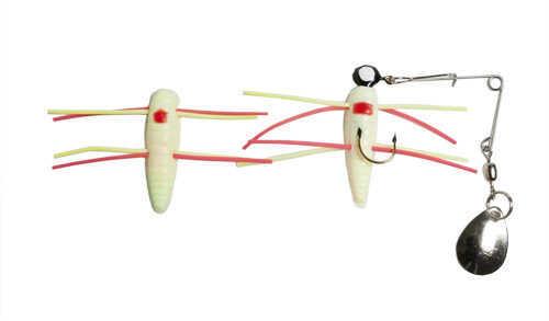 Bett's Betts Grunt Grub Spin-nickel 1/16 12/cd White Red Dot 022GRRL-35N