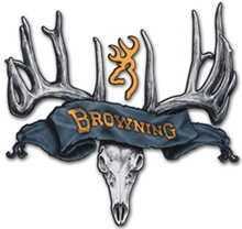 Browning Decals SMU 15in Skull Black/Gold 3922081573