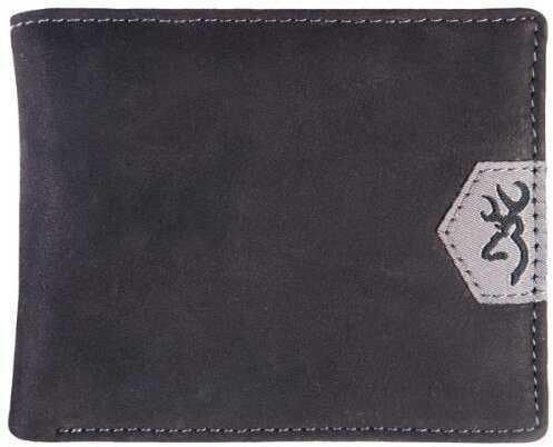 Browning Wallet Black Leather Black Leather Tri-Fold Model: 1B222616