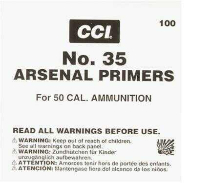 CCI Primers #35 For 50 BMG 100 Per Tray