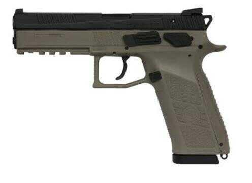 "CZ P-09 9mm Luger 4.53"" Barrel 19 Round Flat Dark Earth Semi Automatic Pistol 91630"