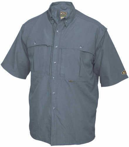 Drake Waterfowl Drake Casual Shirt Orange Short Sleeve Size M DW260ORAM