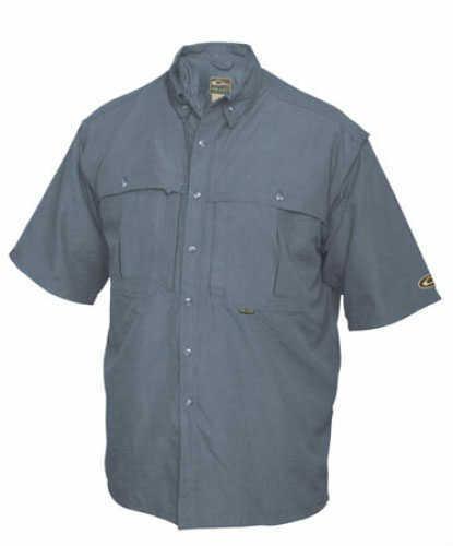 Drake Waterfowl Drake Casual Vented Wingshooter's Shirt Navy Short Sleeve small Md#: DW260NAVS
