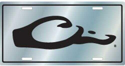 Drake Waterfowl Drake License Plate Logo Silver Model: Dw80122sv